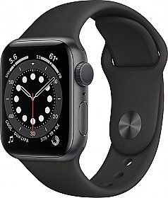 Apple Watch Series 6 GPS 44mm Grey Aluminum Case with Sport Band Black EU