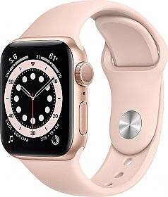 Apple Watch Series 6 GPS 44mm Gold Aluminum Case with Sport Band Pink Sand EU